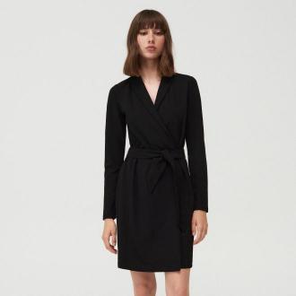 Mohito - Żakietowa sukienka z paskiem - Czarny
