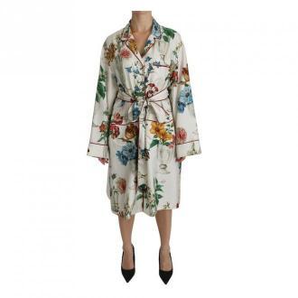 Dolce & Gabbana Shift Midi Robe Dress Bielizna nocna Biały Dorośli