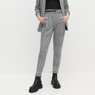 Reserved - Spodnie z wysokim stanem - Wielobarwny