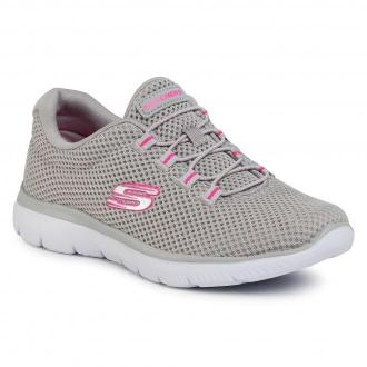 Sneakersy SKECHERS - Quick Lapse 12985/GYHP Gray/Hot Pink