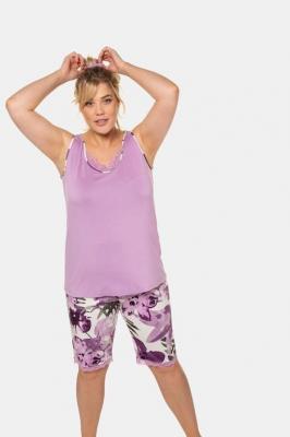 Duże rozmiary Krótka piżamka, damska, biały, rozmiar: 58/60, wiskoza, Ulla Popken