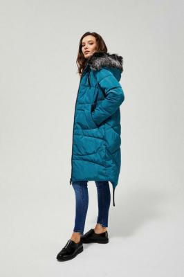 Długi płaszcz pikowany