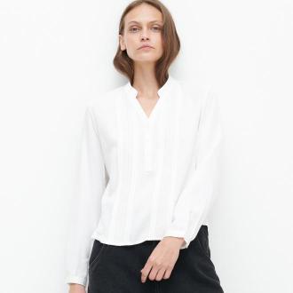 Reserved - Koszula z dekoltem V - Biały
