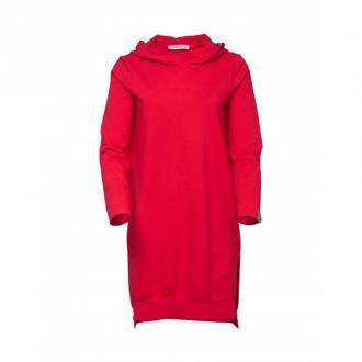 Look made with love Bluza z kapturem CoraLove Swetry i bluzy Czerwony