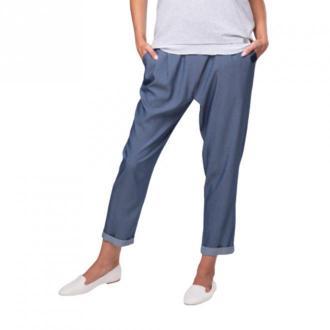 Look made with love Spodnie jeansowe Boyfriend Jeansy Niebieski