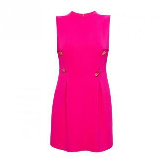 Versace Sukienka z aplikacjami Sukienki Różowy Dorośli Kobiety