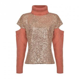 Pinko Mesh Swetry i bluzy Różowy Dorośli Kobiety Rozmiar: XS