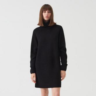 Sinsay - Długi sweter oversize z golfem - Czarny