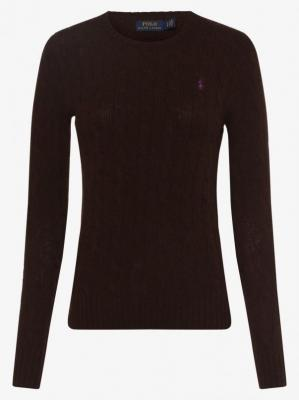 Polo Ralph Lauren - Sweter damski z dodatkiem kaszmiru, brązowy
