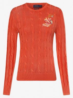 Polo Ralph Lauren - Sweter damski, pomarańczowy
