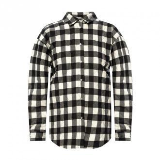 Msgm Koszula ze wzorem w kratę Bluzki i koszule Czarny Dorośli Kobiety