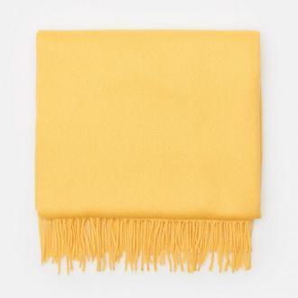 Cropp - Gładki szalik z frędzlami - Żółty