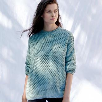 Sinsay - Sweter z zarysowanym splotem - Turkusowy