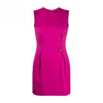 Versace Minidress c / meduzy przyciski Sukienki Różowy Dorośli Kobiety
