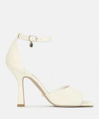 Białe sandały damskie kazar x kasia