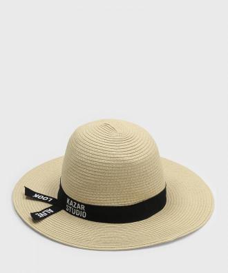 Beżowy kapelusz damski