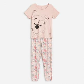 Reserved - Piżama z długimi spodniami Winnie the Pooh - Kremowy