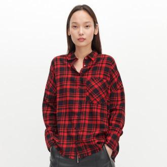 Reserved - Czerwona koszula w kratę - Czerwony