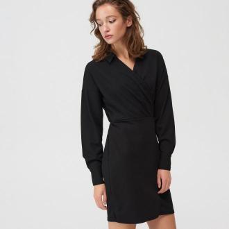 Mohito - Kopertowa sukienka - Czarny