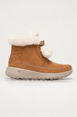 Skechers - Śniegowce zamszowe