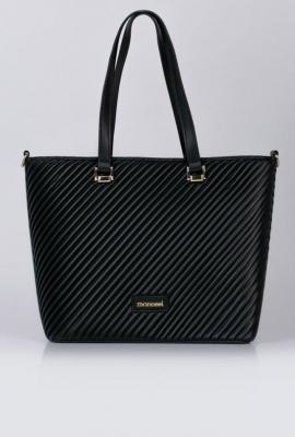 Elegancka torba z ciekawym panelem z przodu