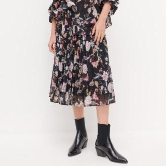 Reserved - Spódnica w kwiaty - Czarny