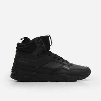 Cropp - Sneakersy za kostkę ze skórzanymi wstawkami - Czarny