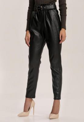 Czarne Spodnie Paper Bag Fornorad