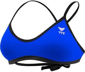 TYR Solid Crosscut Góra bikini wiązana na plecach Kobiety, royal/black XL 2020 Bikini
