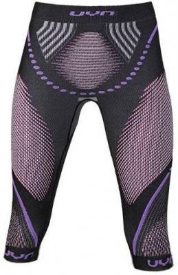 UYN Evolutyon UW Spodnie warstwa średnia Kobiety, anthracite melange/raspberry/purple XS 2020 Bielizna termiczna do biegania
