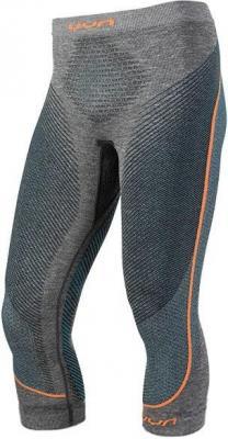 UYN Ambityon Melange UW Spodnie warstwa średnia Mężczyźni, black melange/atlantic/orange shiny S/M 2020 Bielizna termiczna do biegania