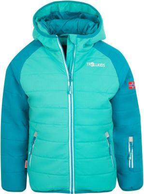 TROLLKIDS Hafjell Pro Kurtka zimowa Dzieci, light petrol/dark mint/white 128 2020 Kurtki narciarskie