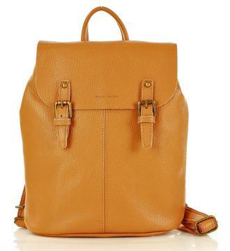 MARCO MAZZINI Miejski plecak skórzany A4 camel
