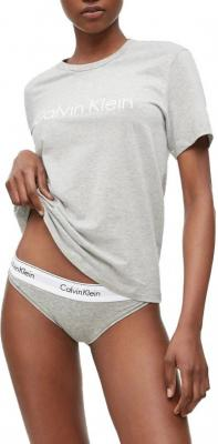 Calvin Klein szara koszulka damska S/S Crew Neck - XS