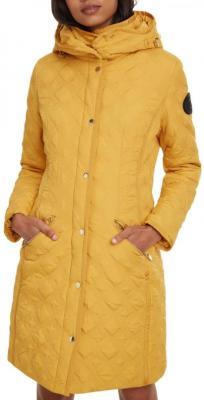 Desigual musztardowy płaszcz Padded Leicester - 38