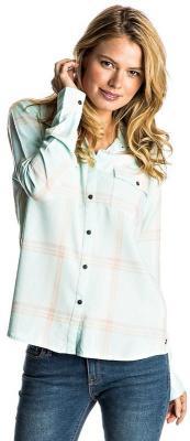 Roxy PLAID ON YOU BLEACHED AQUA LETI PLAID damskie koszulka z długim rękawem - XS