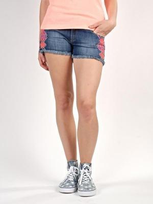 Roxy LOVIN EMBY BPZW damskie spodenki jeansowe - 27