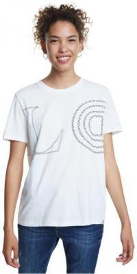 Desigual biała koszulka TS Paris - XS