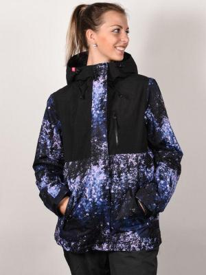 Roxy JETTY 3N1 MEDIEVAL BLUE SPARKLES kurtka zimowa kobiety - S