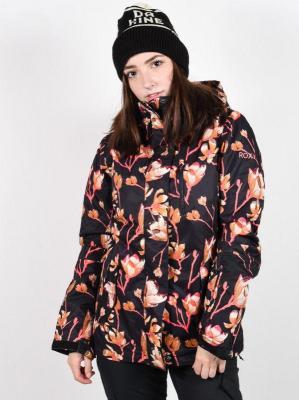 Roxy JETTY TRUE BLACK MAGNOLIA kurtka zimowa kobiety - L