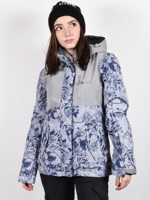 Roxy JETTY 3N1 HEATHER GREY BOTANICAL FLOWERS kurtka zimowa kobiety - S