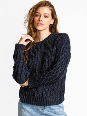 RVCA EMBER NAVY damski sweter projektant - S