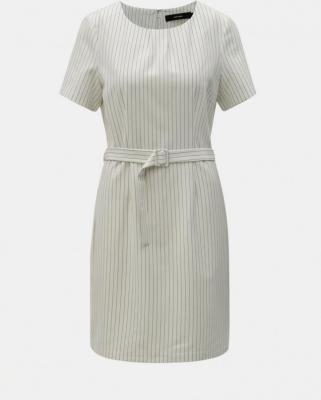 Biała sukienka w paski z paskiem VERO MODA Helena - M