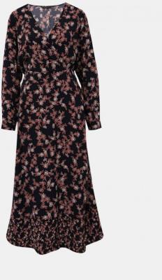Granatowa sukienka maxi w kwiaty ONLY Venera - XS