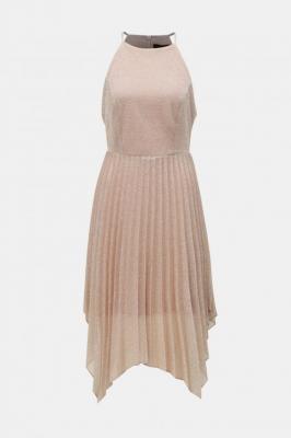 Ciemno różowa plisowana sukienka na ramiączkach Dorothy Perkins - L