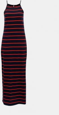 Granatowa basic sukienka maxi w paski ONLY May - XS