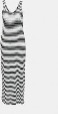 Niebiesko-biała sukienka maxi w paski ONLY May - XS