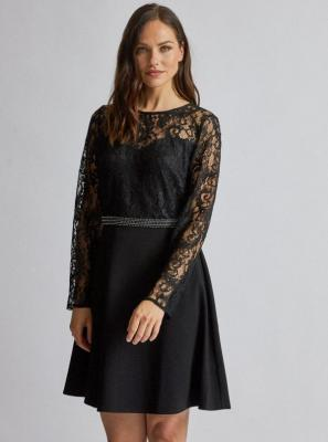 Czarna sukienka z koronką Dorothy Perkins - XS
