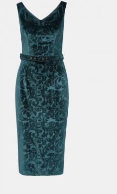Niebieska aksamitna sukienka w płaszcza Dorothy Perkins - XS