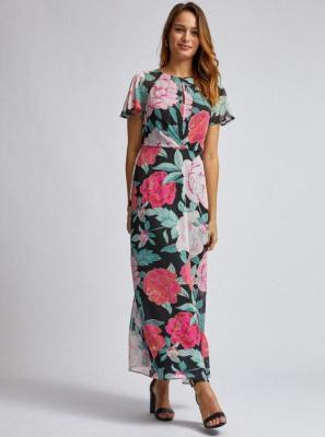 Różowa sukienka maxi w kwiaty Dorothy Perkins - XS